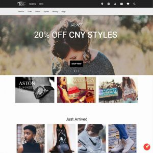 Google Material Design - Fashion, Web Template, Teclutions