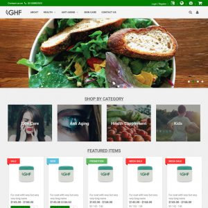 GHF- Great Health Farm, Web Template, Teclutions